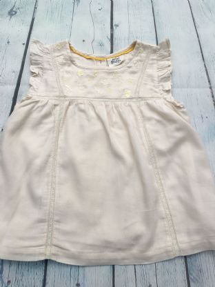 Mini Boden cream tunic with daisy embroidery detail age 4-5